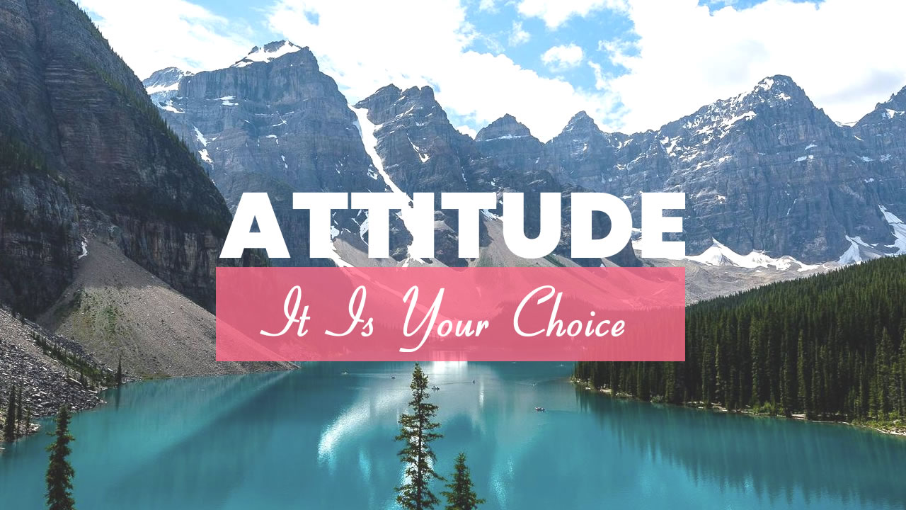 Sue Z Mcgray Attitude- It is your Choice